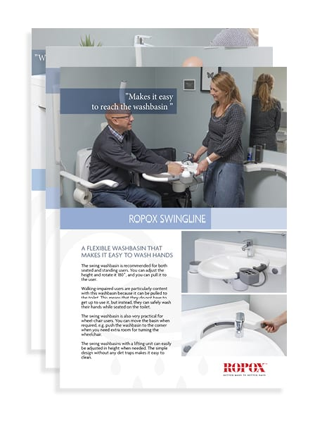 ropox bathroom datasheets thumb Shower Seat with Leg