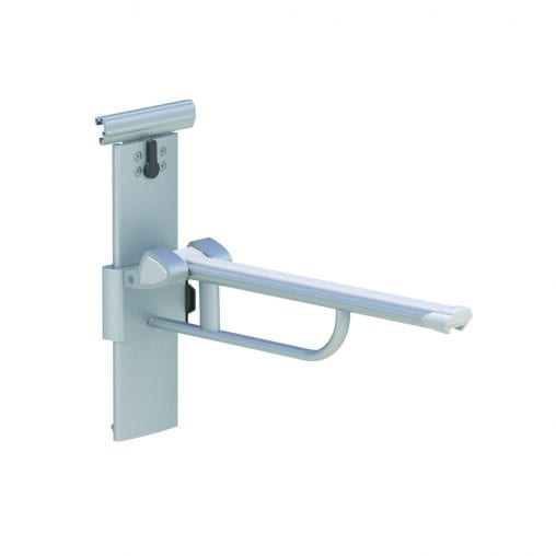 This product is height and sideways adjustable for maximum flexibility. It can be attached, adjusted, moved or removed without effort and without the use of tools. Adjustable internal friction prevents the accidental drop of the bar. Height adjustable with a 27 cm excursion. The support areas are treated with innovative anti-bacterial varnishing. Available with an anodized or stainless steel finish; also available in the following dimensions: 60 cm, 75 cm, 90 cm. You can also choose between the right or left hand operated version.