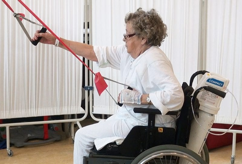 positioning lock real patients 800x545 How the Guldmann Sling Lifter Helps Patients Get Back Onto Their Feet
